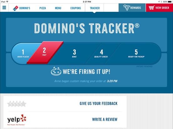 iPad Image of Domino's Pizza USA