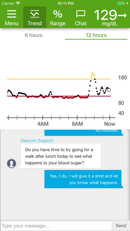 Dexcom Glucose Program App screenshot-0