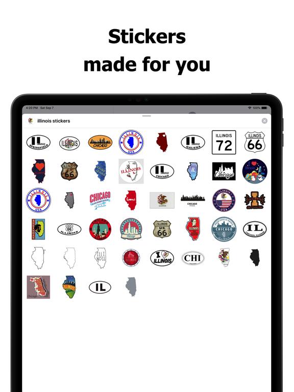 Illinois emojis - USA stickers screenshot 6