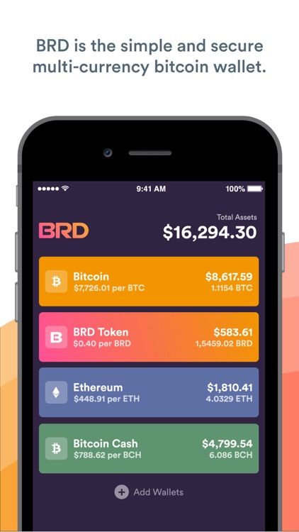 BRD Bitcoin Wallet BTC BCH ETH screenshot-0