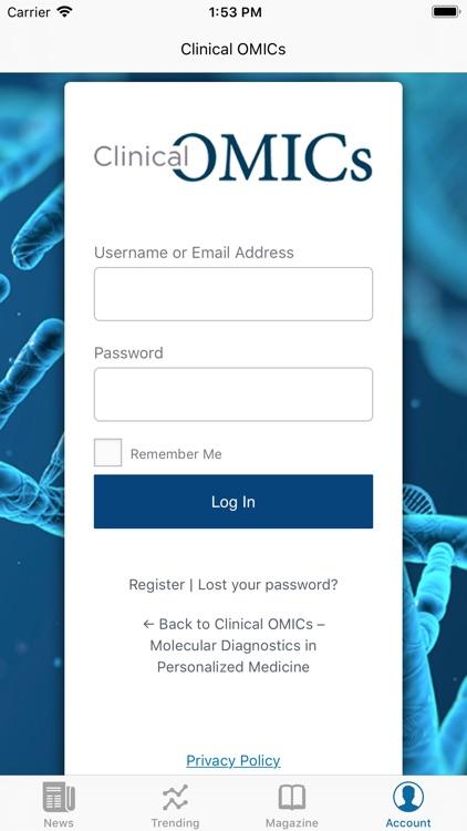 Clinical OMICs screenshot-4