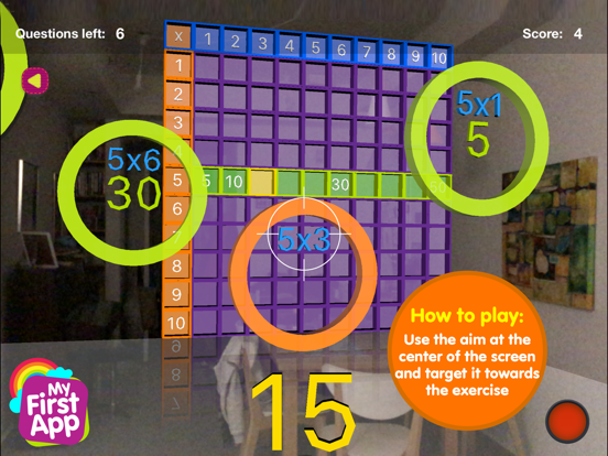 Multiplication table - AR game screenshot 8