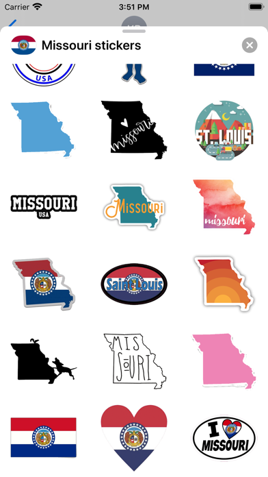 Missouri emoji - USA stickers screenshot 3