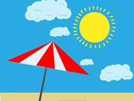 Summer Beach Animated Stickers