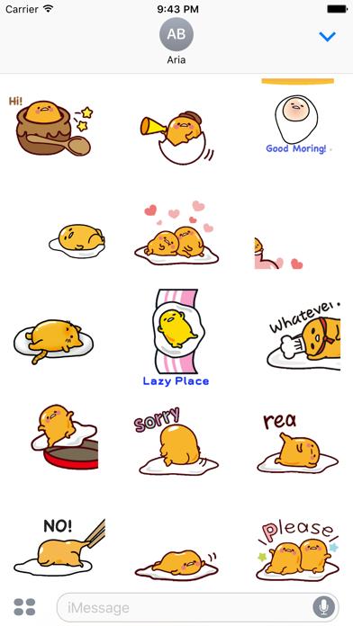 Animated Gudetama Egg Sticker screenshot 2