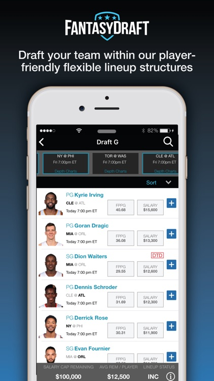 FantasyDraft: Fantasy Sports screenshot-2