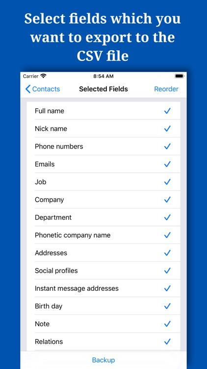 Backup And Manage Contacts screenshot-7