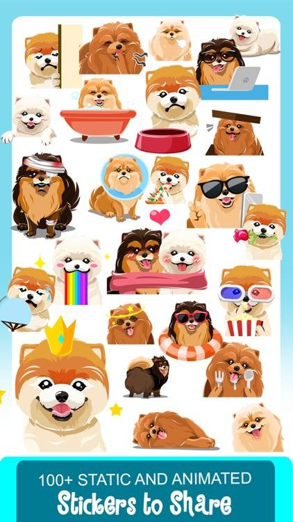 Pomeranian Dog Emoji Stickers