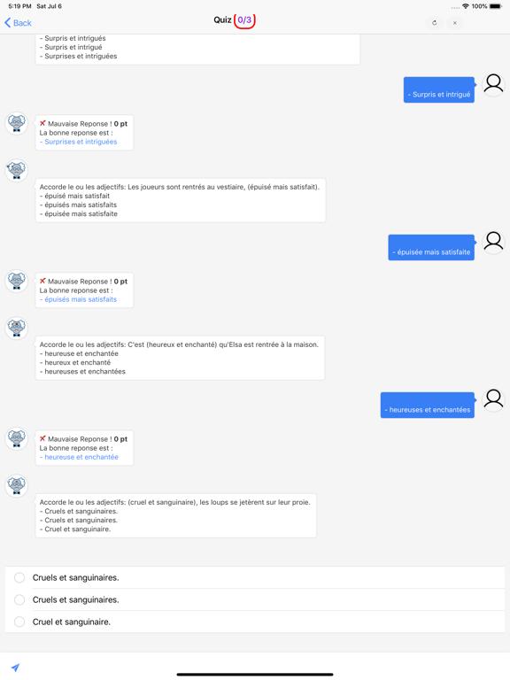 Cours de Français screenshot 11