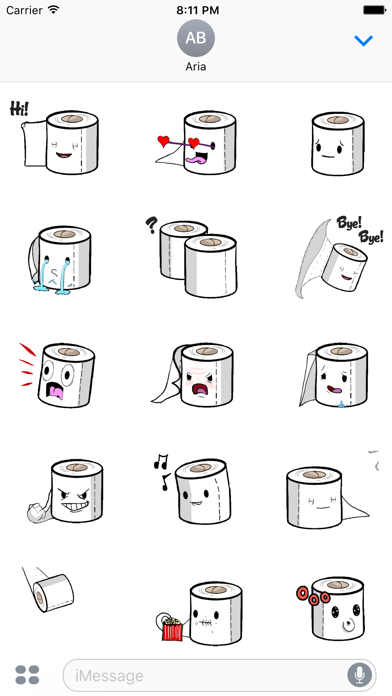 Animated Toilet Paper Sticker screenshot 1