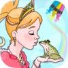 童话公主着色页 .