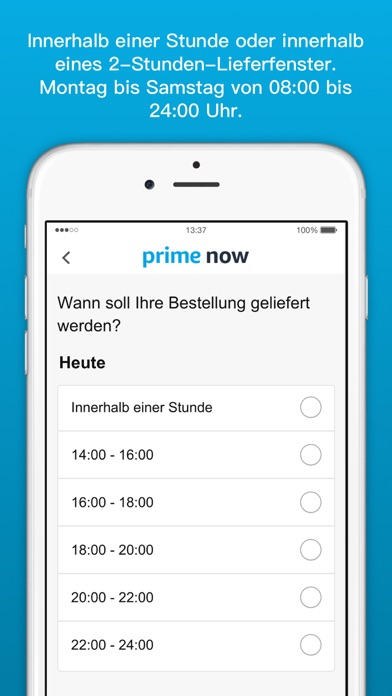 Screenshot for Amazon Prime Now in Germany App Store