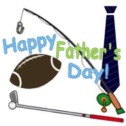 Happy Fathers Day Icon Sticker