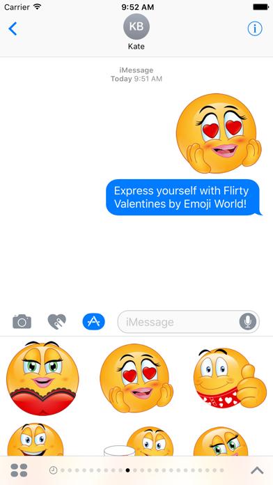 Flirty Emojis ValentinesScreenshot of 1