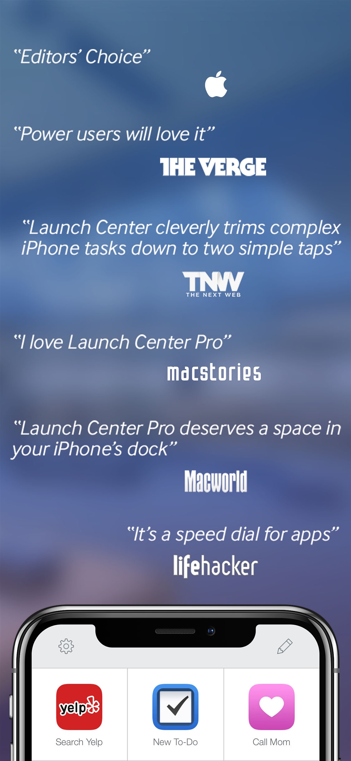 Screenshot do app Launch Center Pro