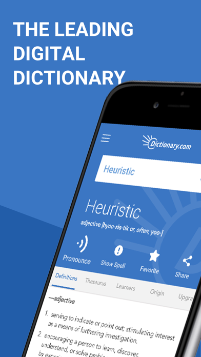 Screenshot for Dictionary.com: English Words in Indonesia App Store