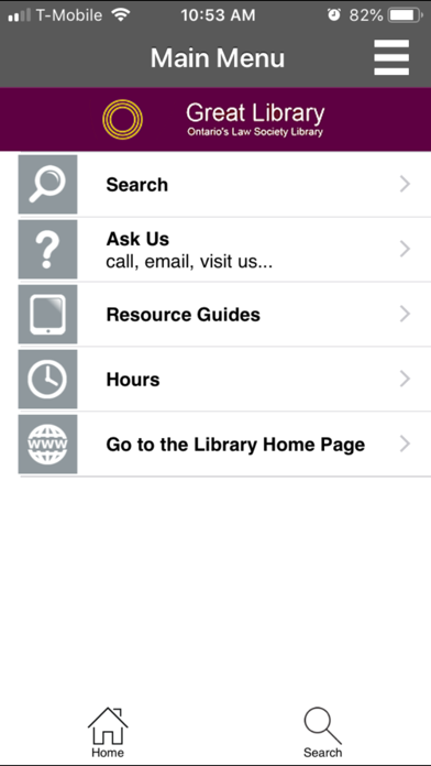 Ontario's Law Society Library screenshot one