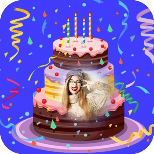 Name Photo On Birthday Cake-