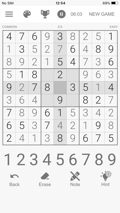 Real Sudoku • Screenshot