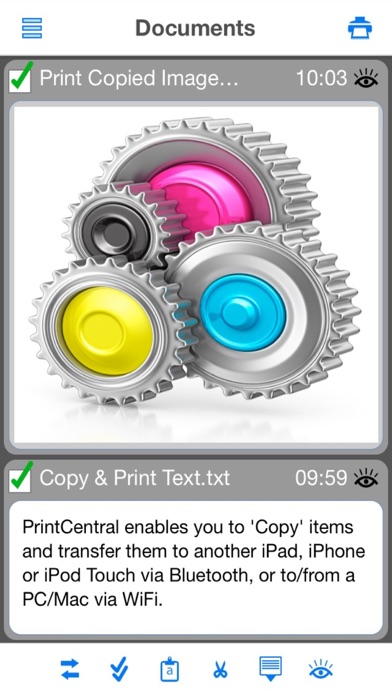 PrintCentral for iPhone screenshot two