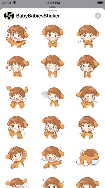 Cute Babies Stickers Baby Moji