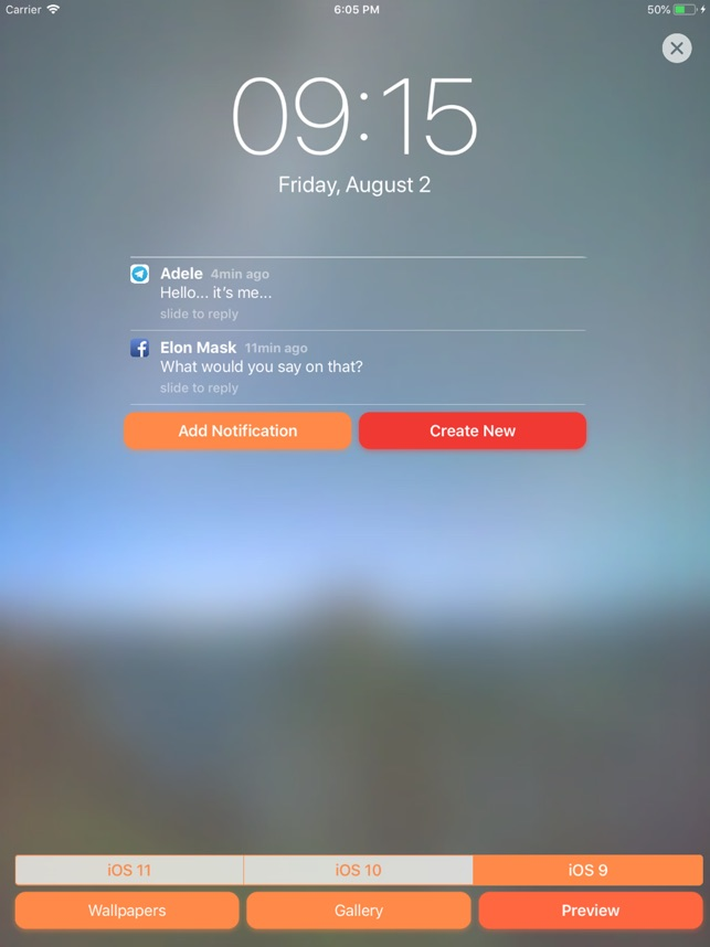 Faker - Fake Notifications on the App Store