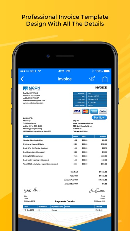 Moon Invoice – Easy Invoicing screenshot-3