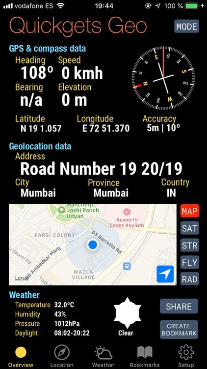 Quickgets Geo: geodata widgets