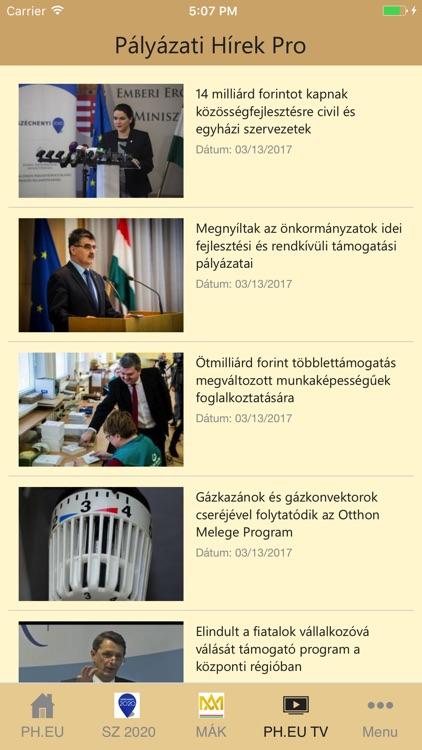 Pályázati Hírek Pro screenshot-3