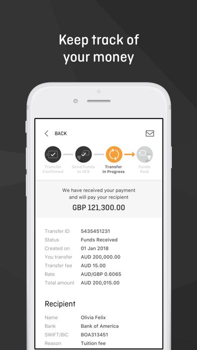 OFX Money Transfer screenshot four