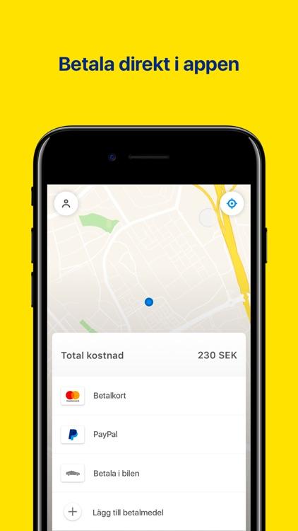 Gamla Sverigetaxi appen screenshot-3