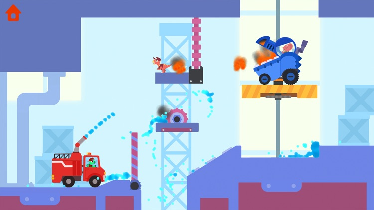 Dinosaur Fire Truck: Kids Game screenshot-8