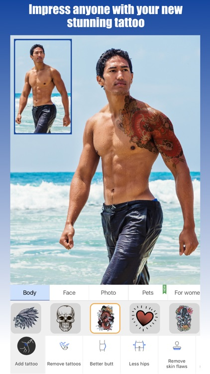 Retouch Men: Abs & Body Editor screenshot-4