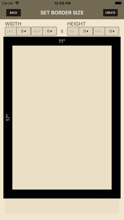 iWasFramed Matting Calculator