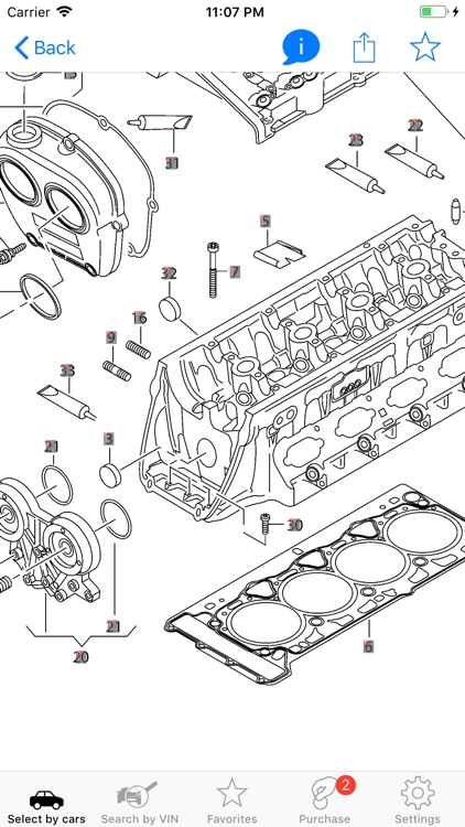 Skoda parts and diagrams screenshot-0