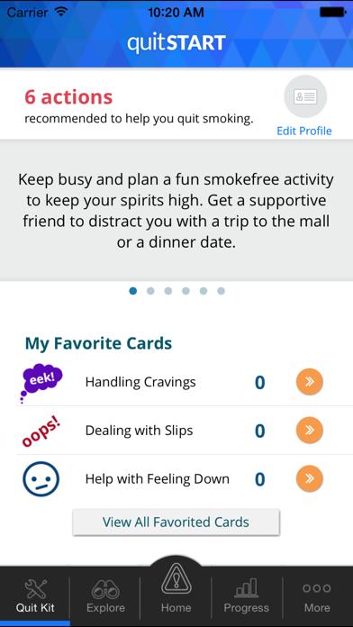 quitSTART - Quit Smoking screenshot