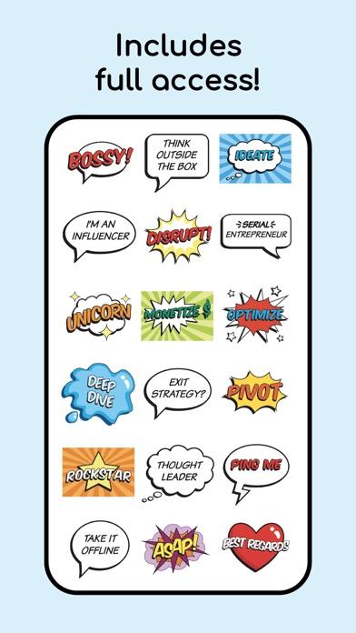 Bossy Buzzwords! Animated Text app image