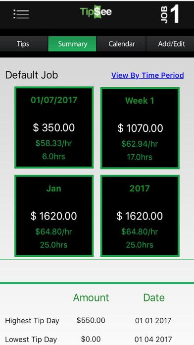 TipSee Tip Tracker App Screenshot