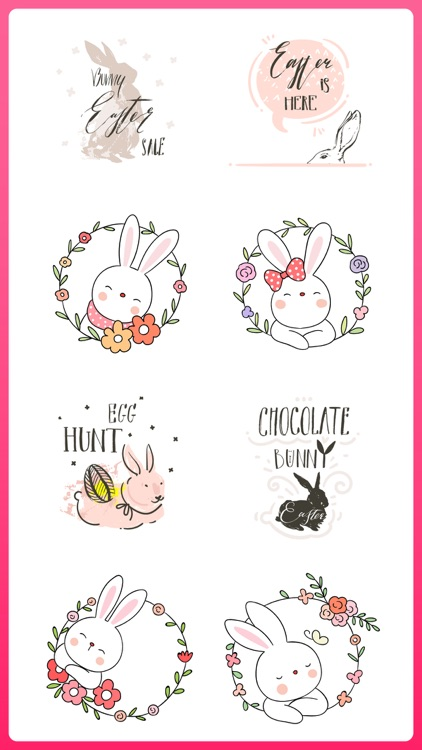 Easter Bunny Egg Hunt Sticker