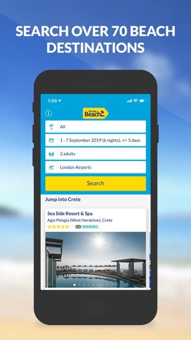 On the Beach Holiday App screenshot one