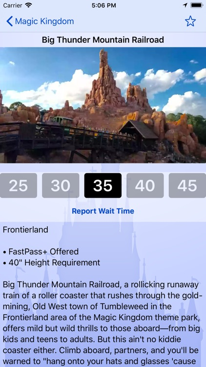 Wait Times for Disney World screenshot-1