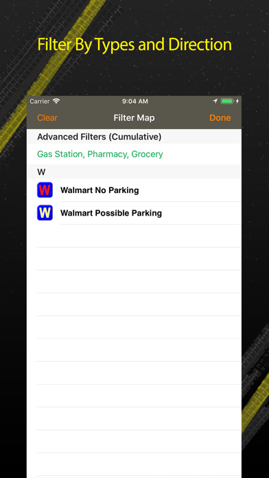 Walmart Overnight Parking Screenshot