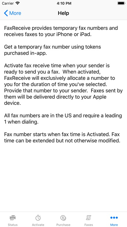 FaxReceive - receive fax app