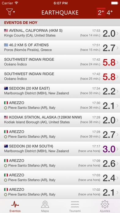 Screenshot for Earthquake in Peru App Store