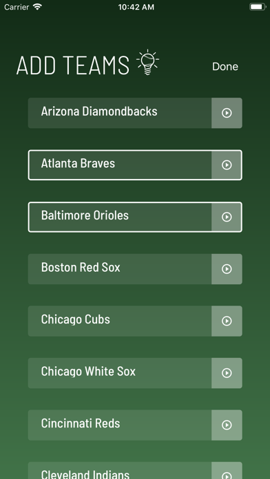 Baseball for Philips Hue Screenshots