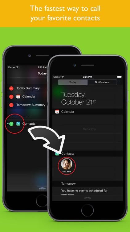 Favorite Contacts Widget screenshot-3