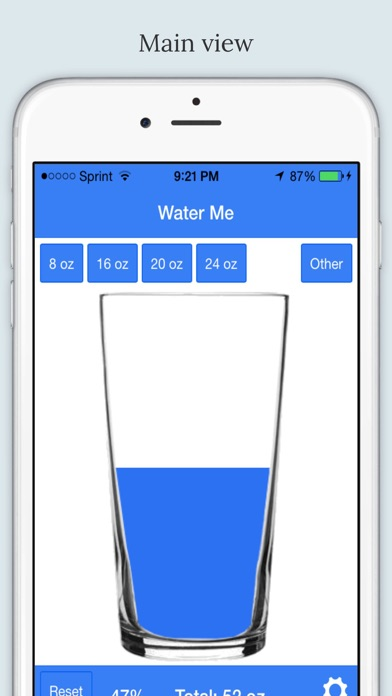Water Me - Daily Water Tracker screenshot one