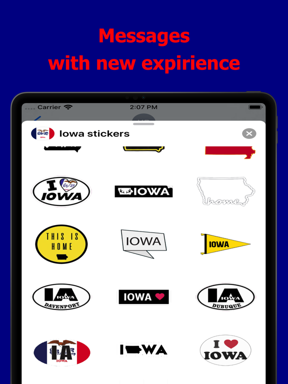 Iowa emojis - USA stickers screenshot 6
