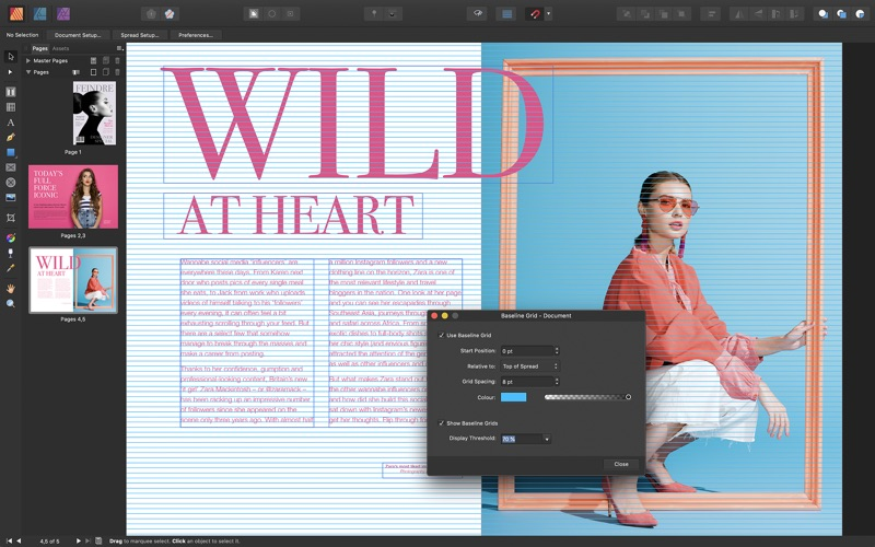 Affinity Publisher review screenshots