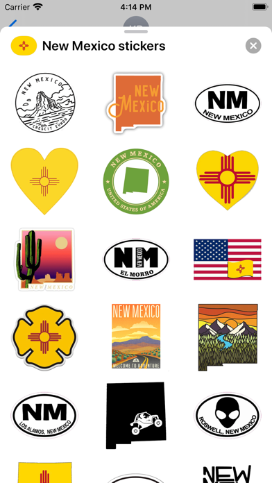 New Mexico emoji USA stickers screenshot 1